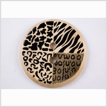 Natural/Black Oversized Button - 160L/100mm