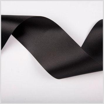 3.75 Black Double Face French Satin Ribbon