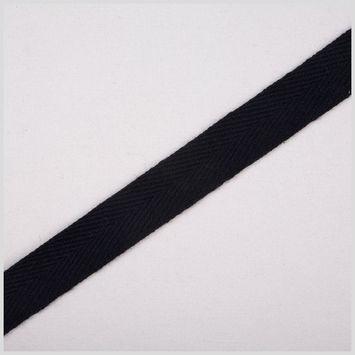 3/4 Black Cotton Twill Tape
