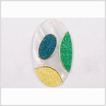 Natural Pearl/Blue/Green Shell Pendant