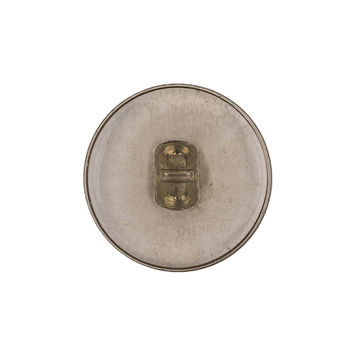 Clear Green Glass Button - 40L/25mm
