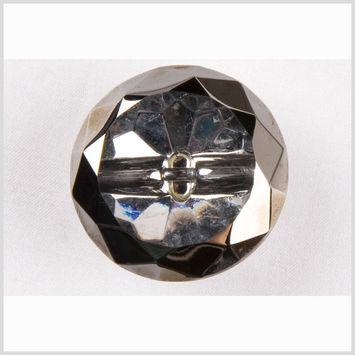 Crystal/Platinum Glass Button - 50L/32mm