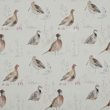 British Imported Gamebird Printed Cotton Canvas