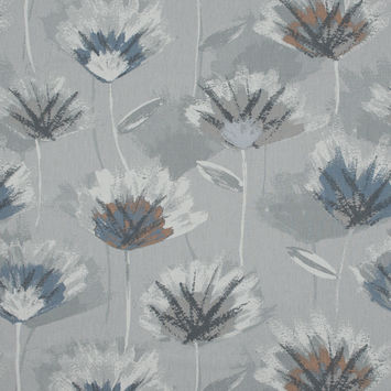British Imported Danube Painterly Floral Printed Cotton Canvas