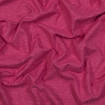 British Imported Fuchsia Polyester and Cotton Woven