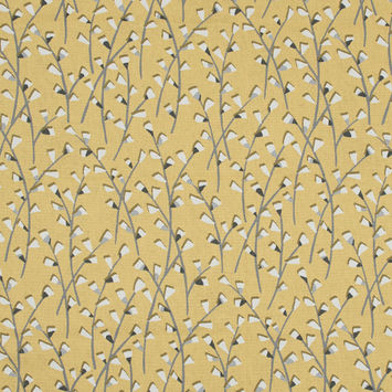 British Imported Sunflower Pussy Willow Printed Cotton Canvas