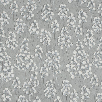 British Imported Fog Pussy Willow Printed Cotton Canvas
