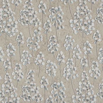 British Imported Wheat Pussy Willow Printed Cotton Canvas