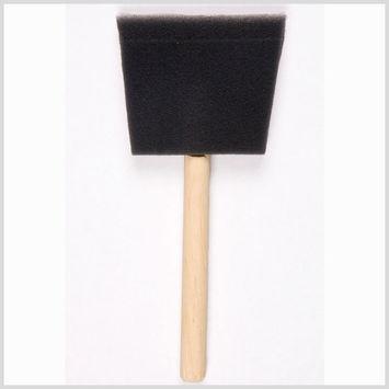 3 Black Foam Brushes