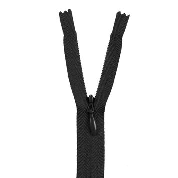 156 Charcoal 24 Invisible Zipper
