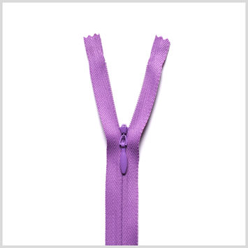 375 Floral Purple 9 Invisible Zipper