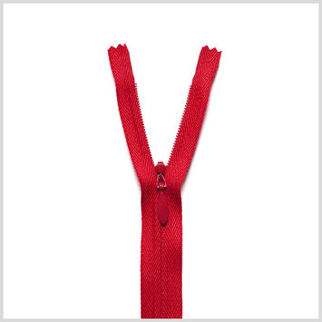 519 Fire Engine Red 9 Invisible Zipper