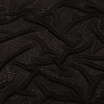 Black Tonal Knit Jacquard