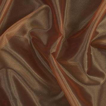 Orange Iridescent Polyester Organza