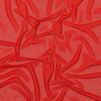 Red Stretch Polyester Mod Mesh