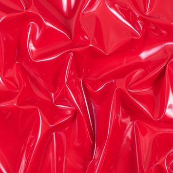 Red Glossy Stretch Imitation Latex