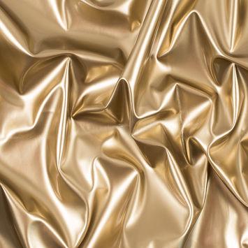 Gold Glossy Stretch Imitation Latex