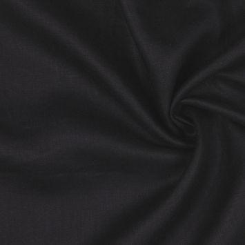 Black Woven Linen Suiting