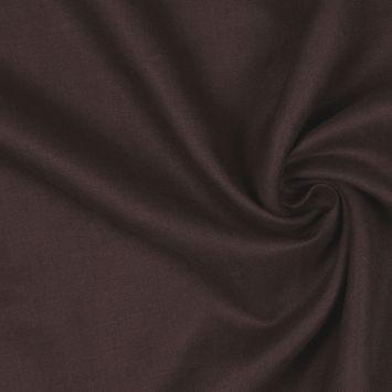 Dark Brown Woven Linen Suiting