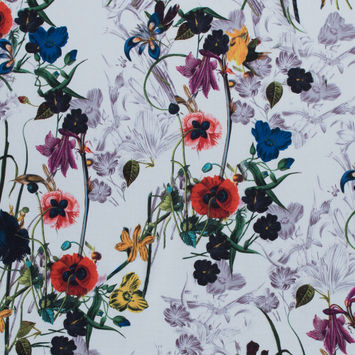 Colorful Flowers Digitally Printed on a Premium Mikado/Twill
