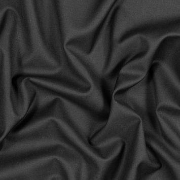 Italian Black Super 120 Virgin Wool Suiting