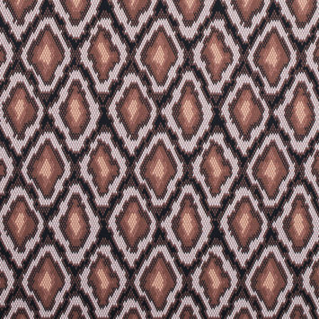 Friar Brown and Pearl Python Printed Stretch Cotton Sateen