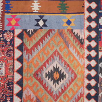 Multicolor Kilim Printed Canvas