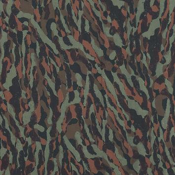 European Green and Brown Camouflage Cotton Poplin