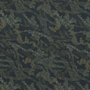 European Green Abstract Camouflage Cotton Poplin