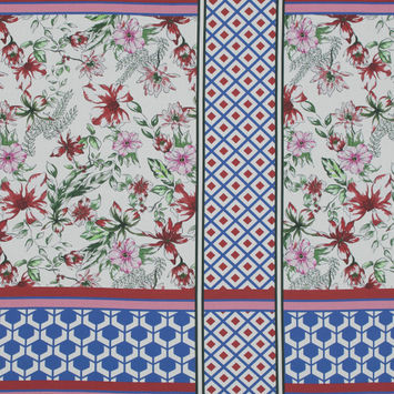 Mood Exclusive Italian Wedding Red and Blue Cotton Poplin