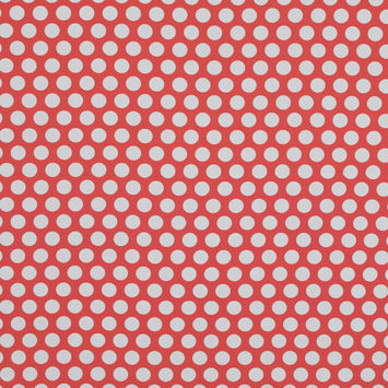 Mood Exclusive Dipping Dots Red Cotton Poplin