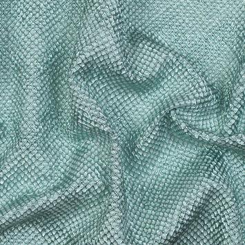 Metallic Mint Diamond Quilted Brocade