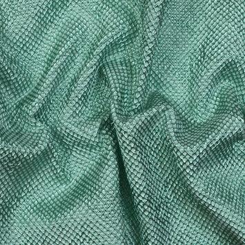 Metallic Green Diamond Quilted Brocade