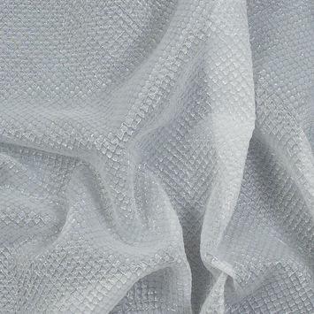 Metallic Transparent White Diamond Quilted Brocade