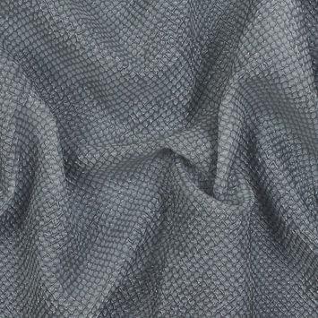 Metallic Transparent Gray Diamond Quilted Brocade
