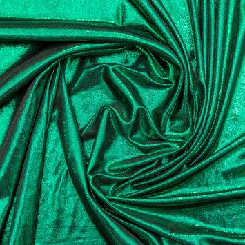 All-Over Metallic Green Foil Rib Knit