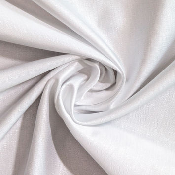 White and Silver Metallic Polyester Woven