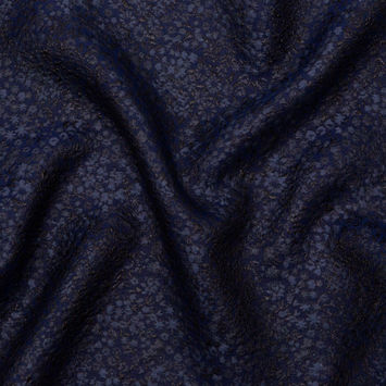Metallic Royal Blue Luxury Floral Brocade