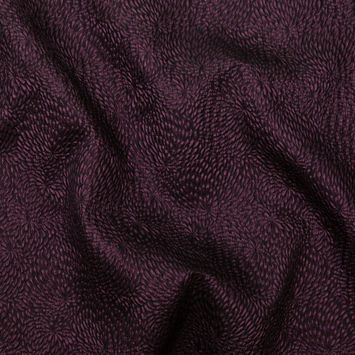 Metallic Aubergine Floral Double-Layer Organza Brocade