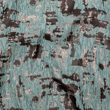 Mint Chocolate Chip Abstract Luxury Metallic Brocade