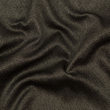 Metallic Pale Gold on Black Abstract Luxury Brocade