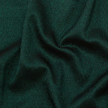 Metallic Green on Black Abstract Luxury Brocade
