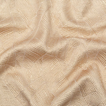 Luminous Gold Double-Layer Organza Brocade