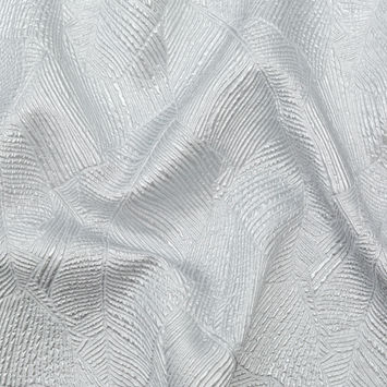 Luminous Silver Double-Layer Organza Brocade