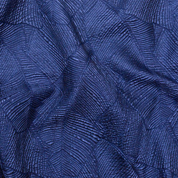 Luminous Royal Blue Double-Layer Organza Brocade