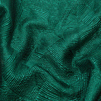 Luminous Green Double-Layer Organza Brocade
