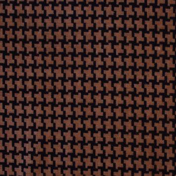 Brown Houndstooth Natty Cotton