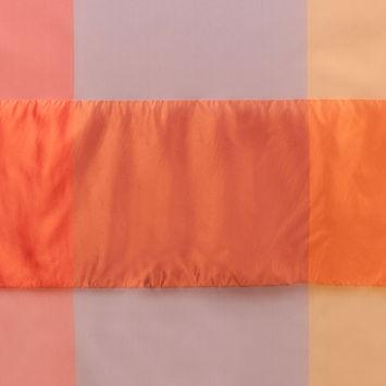 Purple & Orange Armani Silk Panel