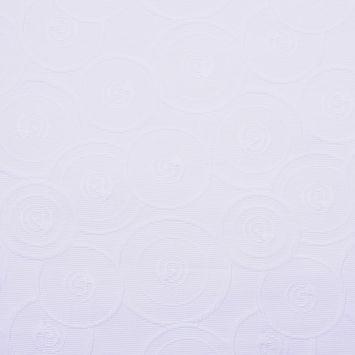 Italian White Geometric Modern Rayon Blend