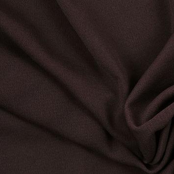 Dark Brown Solid Silk Knit
